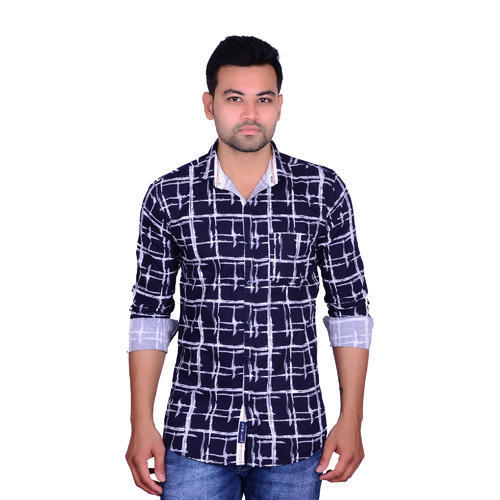 Linen Check Formal Shirt 08b9ce76c