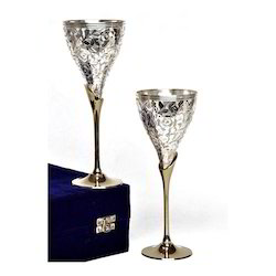 Silver Wine Glass Set