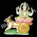 Marble Chandrama Graha Statue