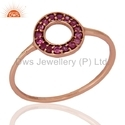 Pink Sapphire 18k Solid Gold Ring Jewelry