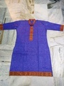 Plain Kurti With Traditional Border