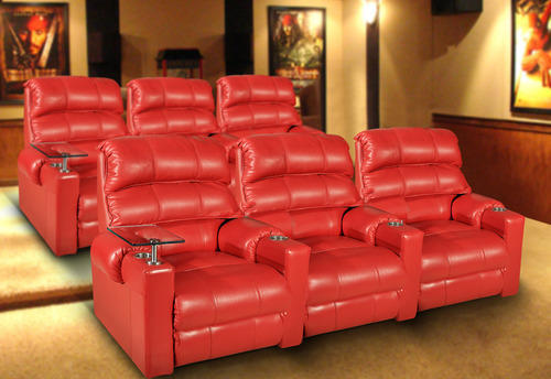 Red Home Theater Leather Recliner Sofa Rs 24500 Piece I Space