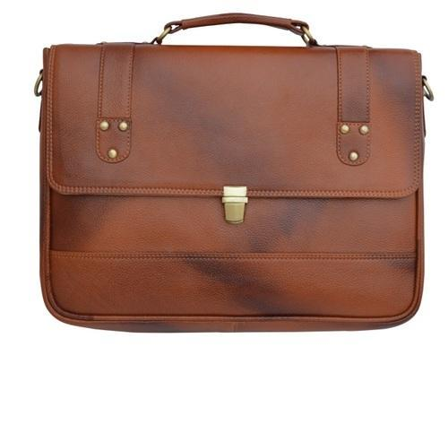 Brown Leather Office Handbag