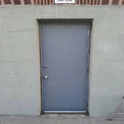 White Residential Steel Door, Size: 1.2 X 2.1m