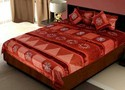 Traditional Silk Bedcover Cushion and Pillow Cover Set 404