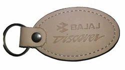 Flat Leather Key Ring