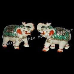Marble Stone Elephant Statue