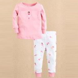 Cotton Unisex Baby Pyjama Set (Pink)