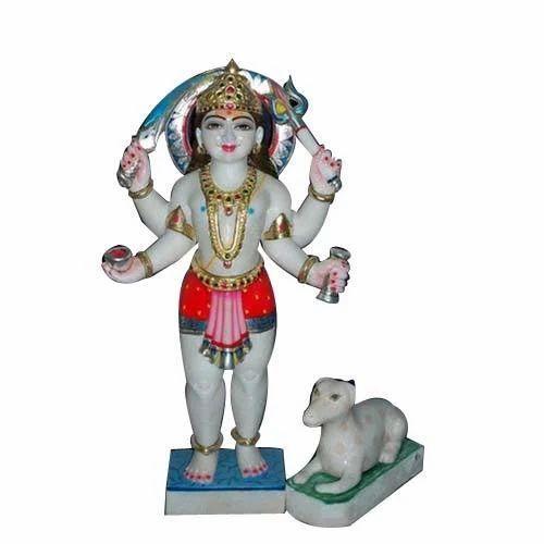 Marble Bhairav Nath Bhairav Baba Marble Statue