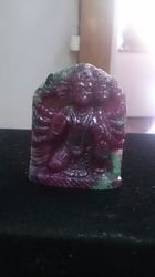 Panchmukhi Hanuman Idol of Ruby Gemstone