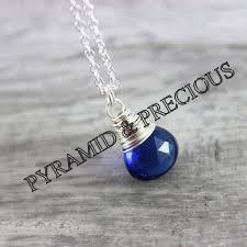 Blue Onyx Silver Necklace