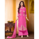 Cotton Embroidered Plazo Suit