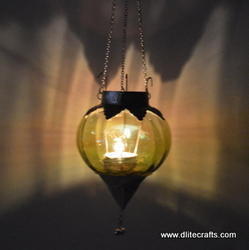 Color Glass T Hanging Light With Metal Fitting