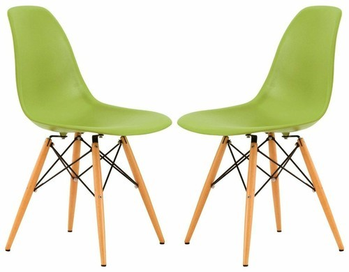 Trendy Plastic Chair With Wooden Legs
