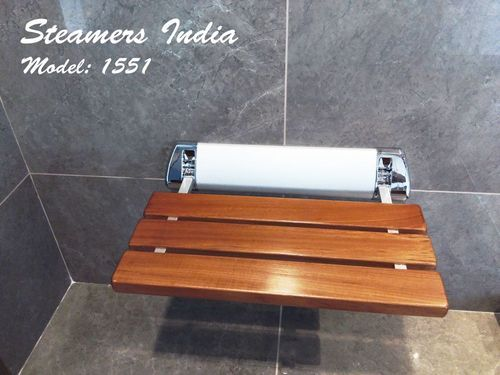 Steamers India Shower Wooden Folding Seat Model No 1551, Dimension/Size: 500x300