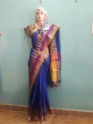Casual Wear Border, Plain Chanderi Silk Cotten Saree