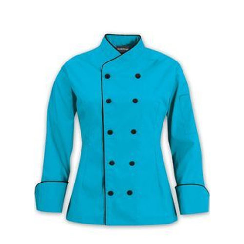 Sky Blue Cotton Chef Coats, Size: L And XL