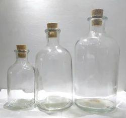 Glass Message Bottle, Capacity: 125 mL