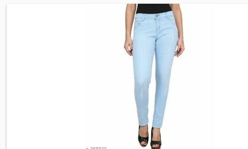 Sky Blue And More Colour Stretchable Ladies Jeans