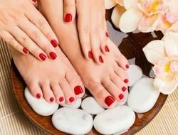 Female Pedicure And Manicure