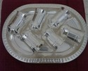 Silver Plated Six Glass With Tray Set