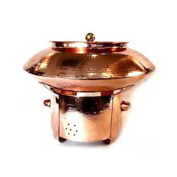 Copper Hammered Finished Biryani/Mutter Kulcha Set