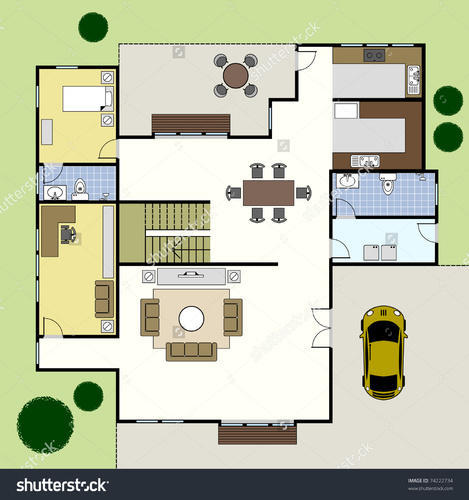 Architectural Layout Design Plan For Home