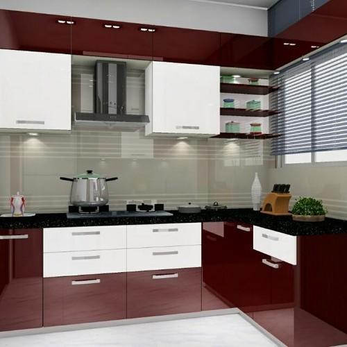 Pvc L Shape Modern Modular Kitchen Rs 850 Square Feet: Residential German Modular Kitchen, Warranty: 1-10 Years