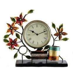 Decorative Clock with Pen Stand