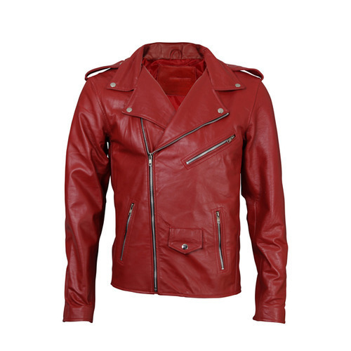Red Retro Leather Motorcycle Jacket Rs 5200 Piece Wanderer Inc