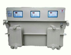 Oil Cooled Digital controller Three Phase Industrial Voltage Stabilizer, Capacity: 150kva