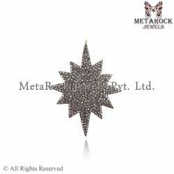 Pave Diamond Starbrust Pendant Jewelry
