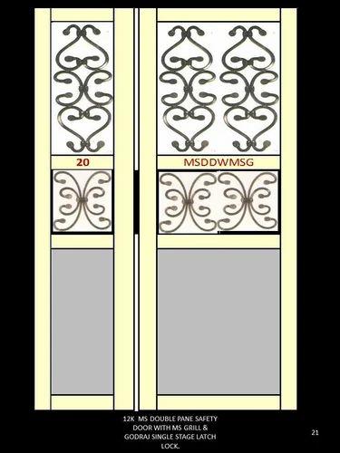 MS Metal Security Door at Rs 12000 /piece | धातु का ...