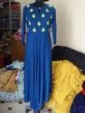 Rayon embroidery blue kurti