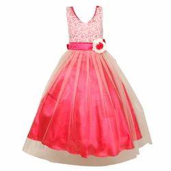 ff30df6e602d Satin Girls Party Wear Gown Dress