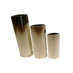 Steel Flower Vases Set For 3 Pcs