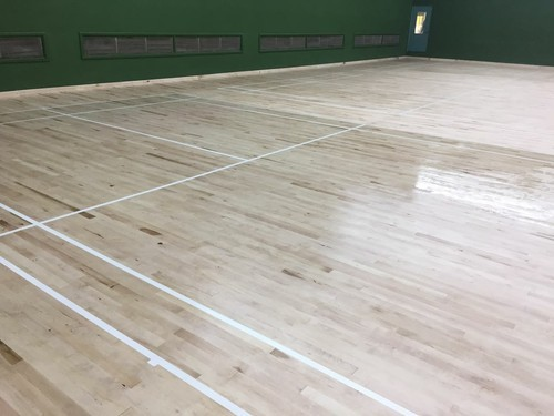 Maple wood sports flooring