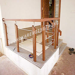 Wooden Sitout Handrail