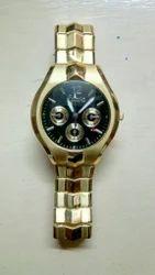 Karva Stainless Steel Golden Watch