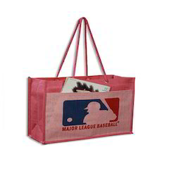 Coloured Printed Promotional Jute Bags, Capacity: 10 Kgs