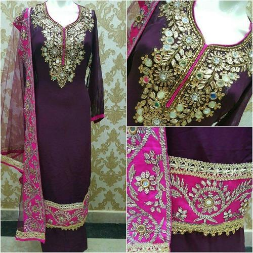 Hand Embroidery Designer Suit At Rs 4500 Piece Shahpur Jat