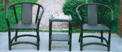 Ivory Style Outdoor Wicker Coffee Set