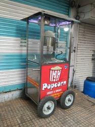 Pop Corn Machine Gas Operated with Cart