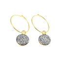Pave Set Hoop Earring