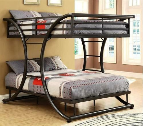 Twin Over Twin Metal Bunk Bed With Mattresses At Rs 24000 Piece