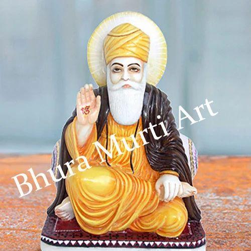 Marble Gurunanak Ji Statue White Marble Guru Nanak Ji
