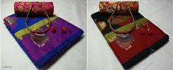 Multicolor Silk Ethnic Saree