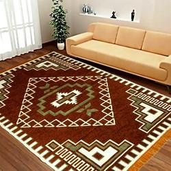 Multicolor Rectangular Shaneel Carpets, For Home, Size: 5x7feet