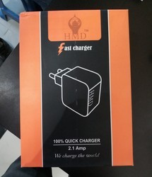 Black And White Mobile Charger