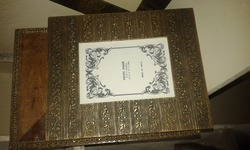 Wooden Photo Frame with Brass